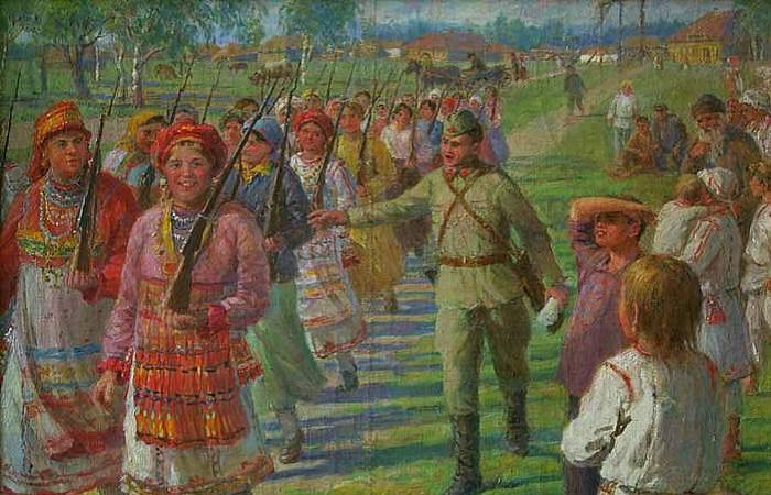 Водь, бесермяне и другие народы России, которых вроде бы нет, а они есть. Картина Федоты Сычкова.